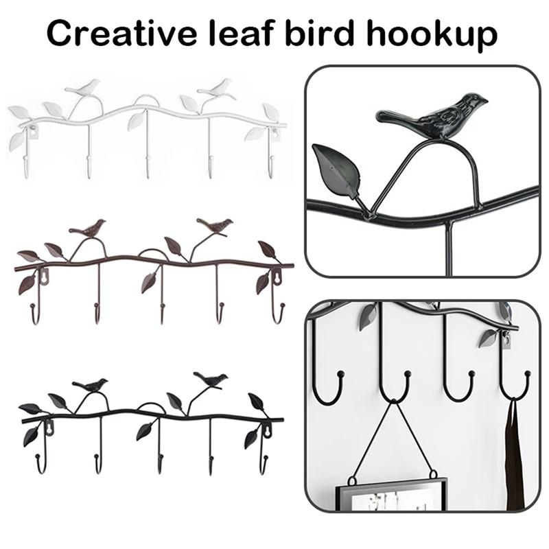 Perchero de Metal con diseño de pájaros para sala de estar, Perchero...