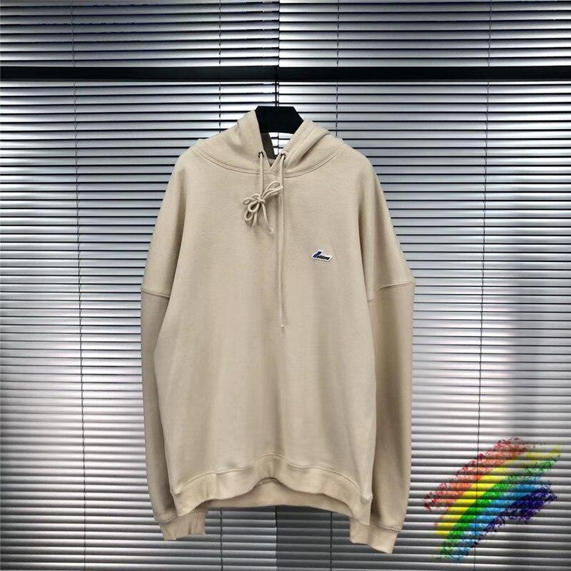 Classic Onesize well Hoodie Hoode Corea Color sólido verde Streetwear bordado well Hoodie We11 Done Pullover
