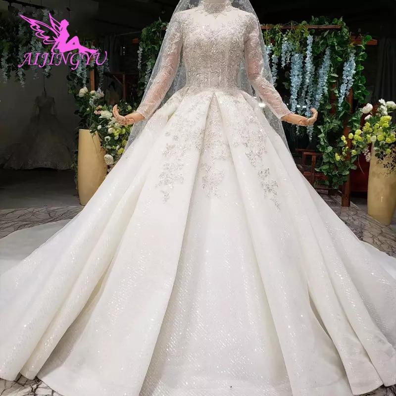 AIJINGYU-فستان زفاف من الساتان ، عتيق ، لجام ، بوتيك ، مصنع قوانغتشو ، عرض