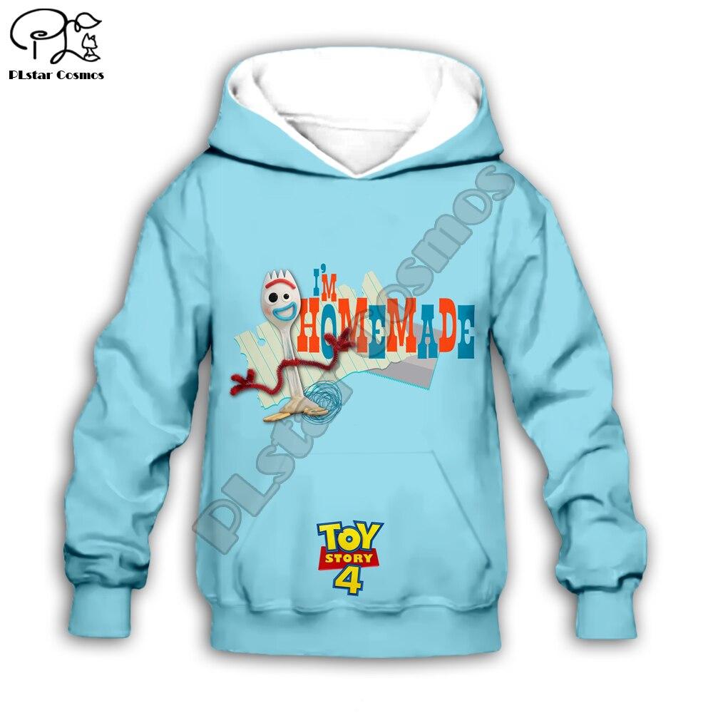 Los niños Forky juguetes historia 4 caminar juguetes chica 3d sudaderas con capucha/camiseta/camisa de niño sudadera Sherif Woody de dibujos animados, Buzz, Buzz Lightyear pantalón