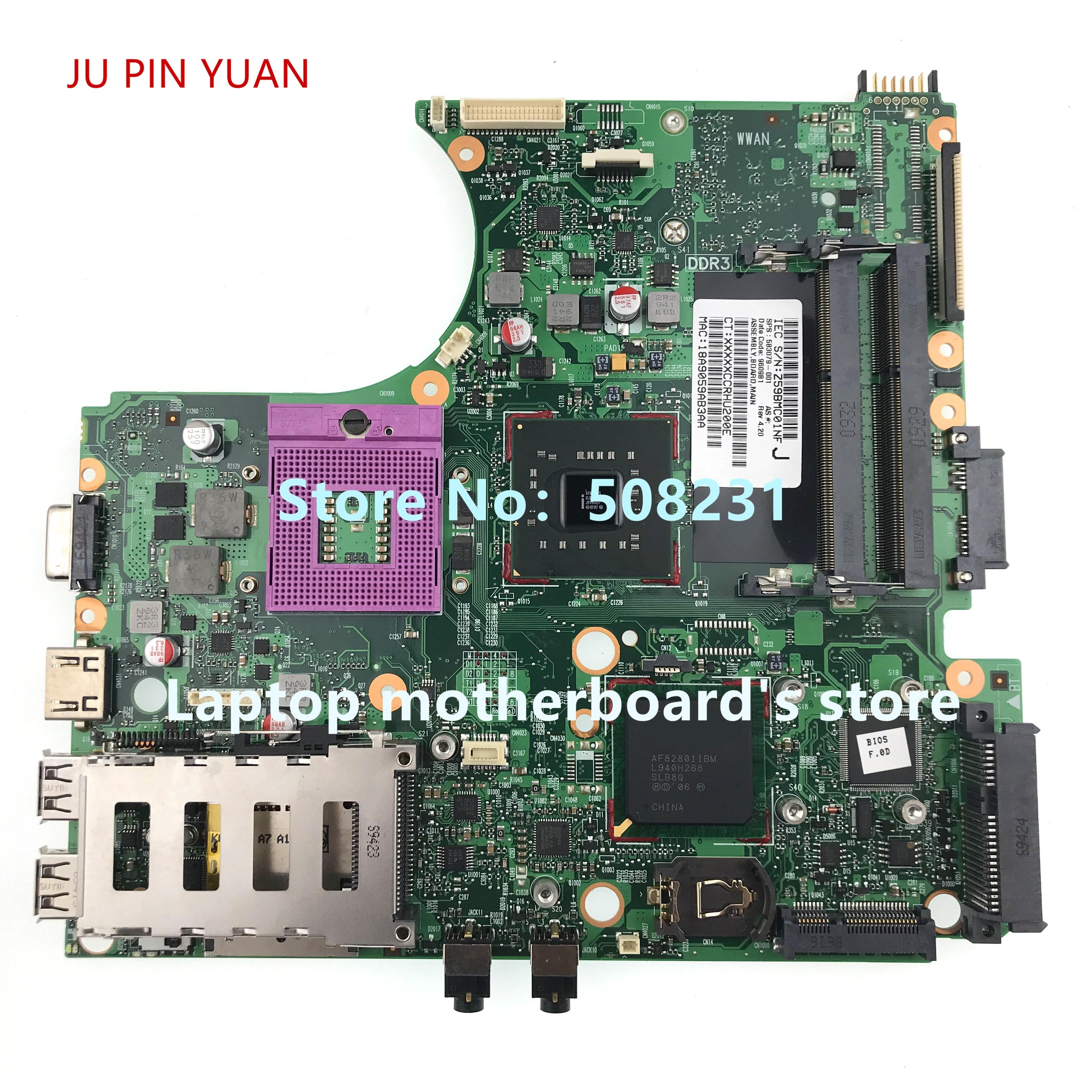 583079-001 583081-001 للوحة الأم للكمبيوتر المحمول HP Probook 4410S 4510S GM45 DDR3 100% تم اختبارها بالكامل