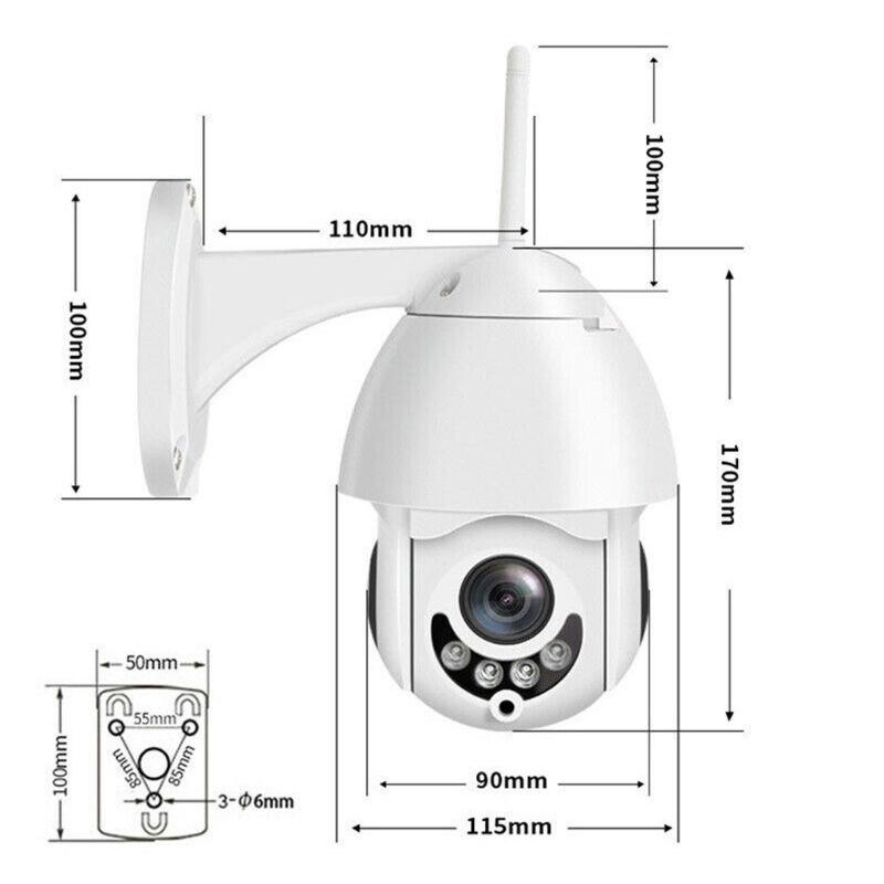 Ao ar livre à prova dwireless água sem fio wifi câmera ip 1080 p cctv hd vigilância cam para suprimentos de segurança em casa com quatro luzes