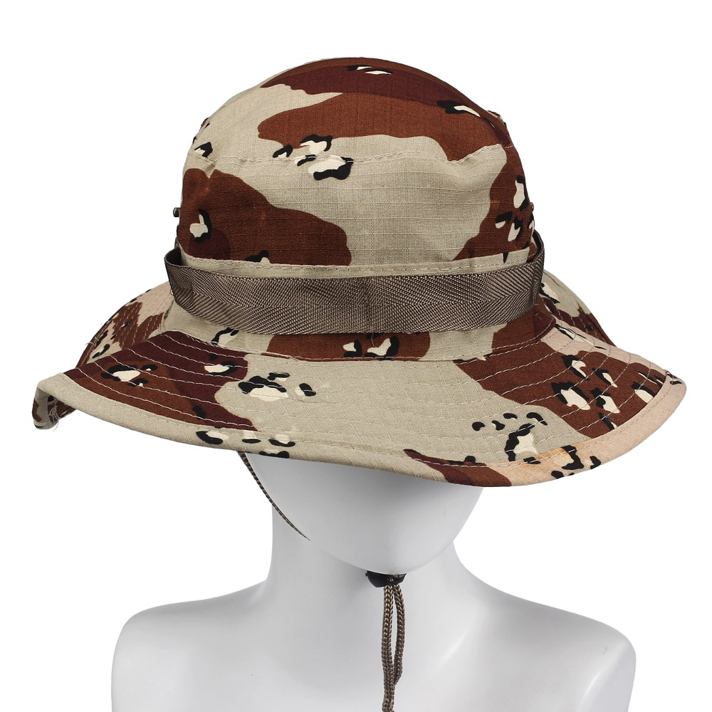 Pesca al aire libre tapa ancha Multicam táctico Airsoft francotirador balde de camuflaje Boonie sombreros nepalí caza militar Unisex 2020