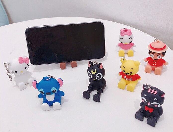 2020 novo bonito dos desenhos animados do telefone móvel suporte universal animal urso boneca suporte telefone titular acessórios para smartphone