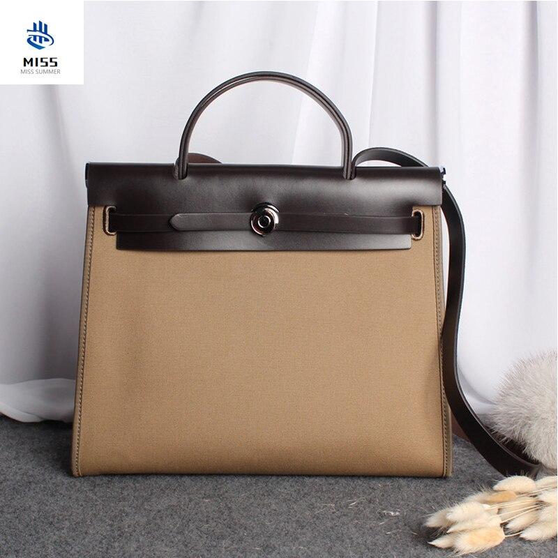 2020 جديد فاخر حقيبة يد ذات تصميم على الموضة حقيبة كيلي عالية الجودة قماش مع جلد البقر حقائب نسائية موضة الكتف حزمة قطري