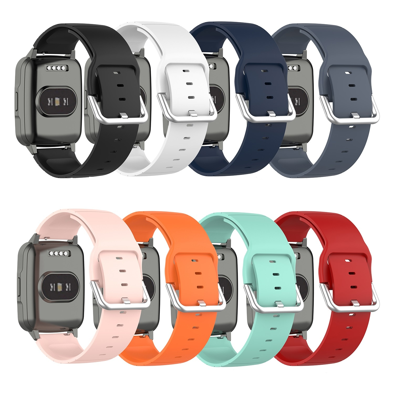 19mm Silicone Strap Watch Band for Xiaomi haylou Solar LS01 ID205 Willful IP68 Smart Watch Wristwatch Replacement Bands