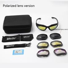 Daisy C5  Polarized Glasses Military Goggles Army Sunglasses with 4 Lens Original Box Men Shooting E