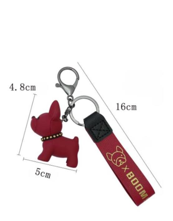 Keychain Creative 7cm x 4cm x 8CM x large bulldog home decoration cute men's and women's french dog car with posing gifts