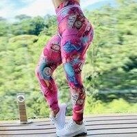 new 3d printed yoga pants women push up professional running sport pants fitness gym leggings tight trouser pencil leggins