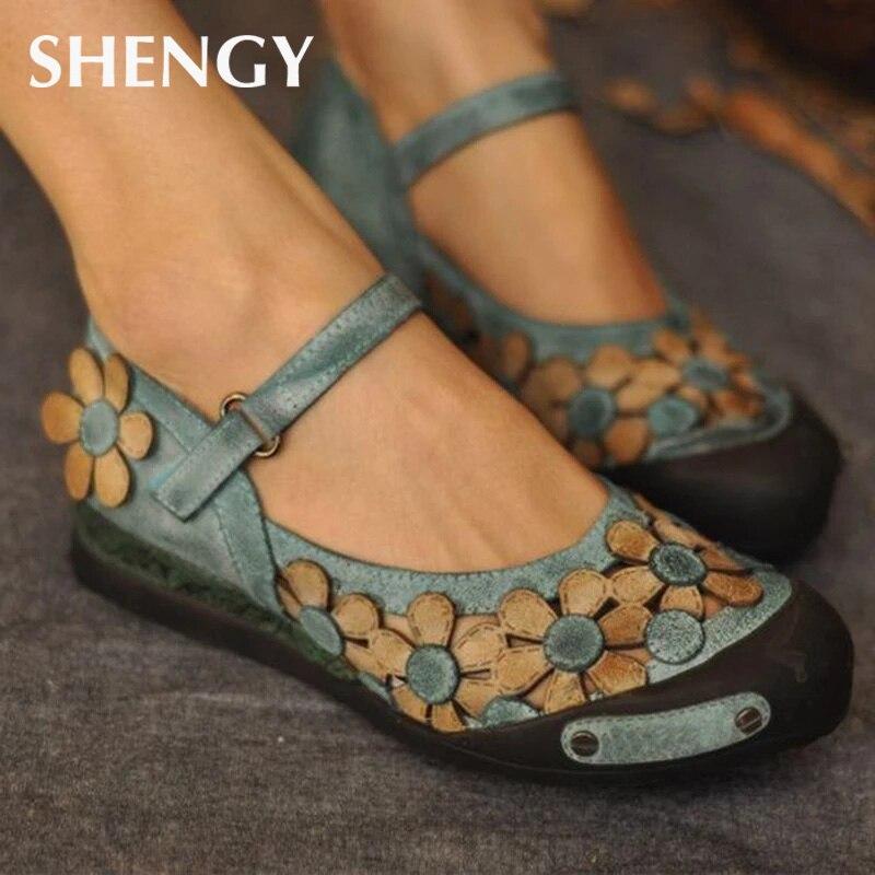 Sandalias planas de 42-43 para mujer, sandalias con borra de flores de verano para mujer, zapatos informales ligeros para oficina o boda, zapatos transpirables