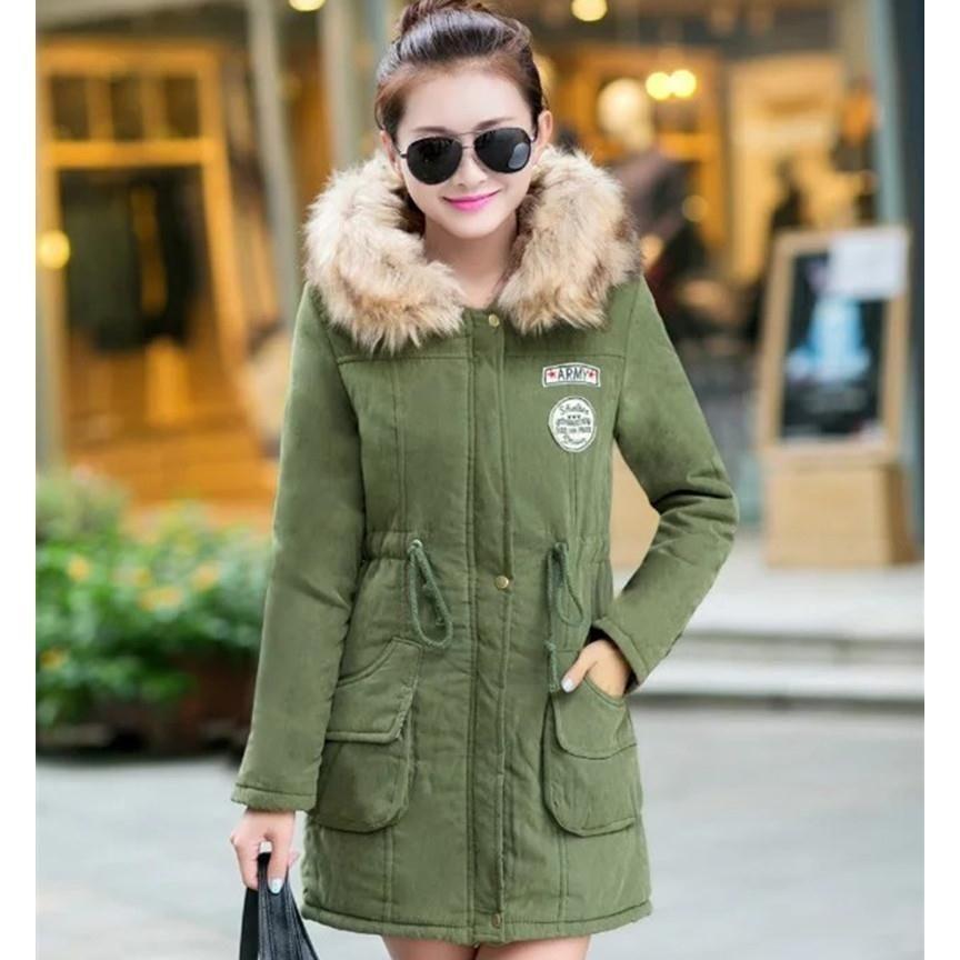 Korea Mode Frauen Schlank Mit Kapuze Dicke Warme Lange Mantel all-abgestimmt Casual Baumwolle Jaket Frauen Grün Parkas Winter Mäntel d249