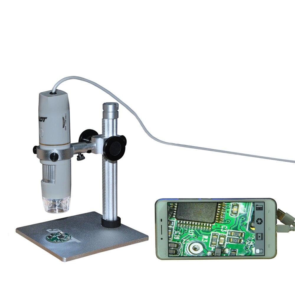 Usb portátil microscópio otg função 8led zoom digital lupa com suporte verdadeiro 5.0mp câmera de vídeo microscopio mikroskop usb