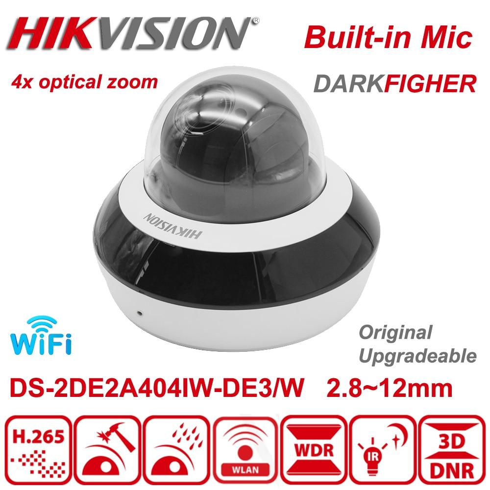 الأصلي Hikvision DS-2DE2A404IW-DE3/ث 4MP اللاسلكية 4xZoom كاميرا متحركة الأشعة تحت الحمراء PoE واي فاي المدمج في هيئة التصنيع العسكري واي فاي داركفايتر