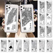MaiYaCa Ins carte de ville Exclusive noir housse de téléphone en caoutchouc souple pour iPhone 11 Pro XS MAX XR 8 7 6 6S Plus X 5 5S SE