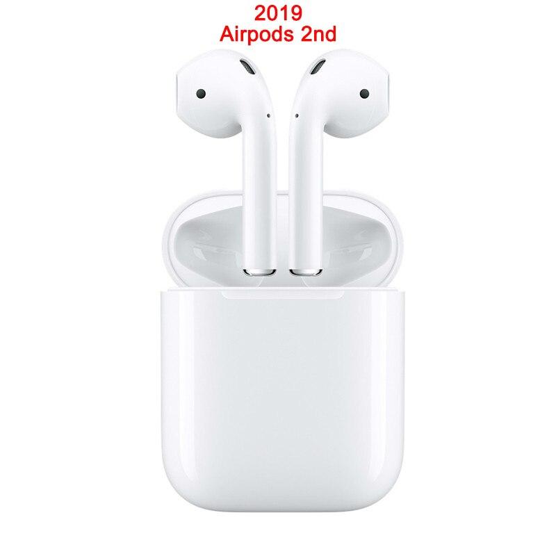 Apple 2019 AirPods 2nd with Charging Case Earphone Original Bluetooth Headphones for iPhone 11 XR Plus iPad MacBook Apple Watch