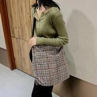 60 dropshippingwomen fashion plaid shoulder bag tote large capacity crossbody pouch handbag
