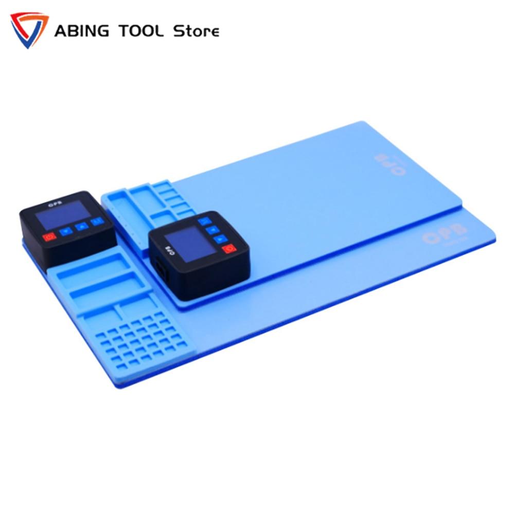 Mijing CPB.300 CPB.320 شاشة LCD فاصل لوحة التدفئة آيفون سامسونج باد اللوحي مع موصل USB فتحة المسمار