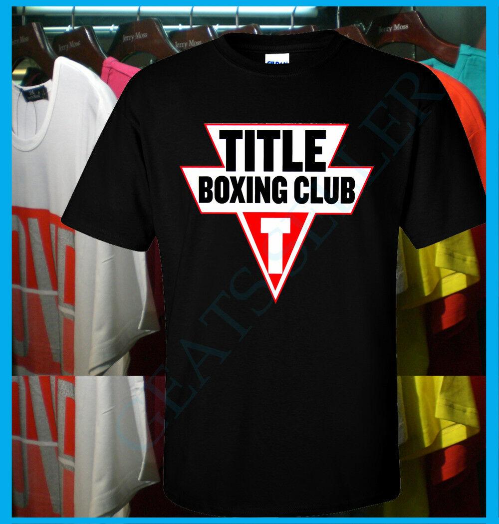 Novo título boxe clube logotipo t camisa s 2xl equipamentos esportivos vestuário