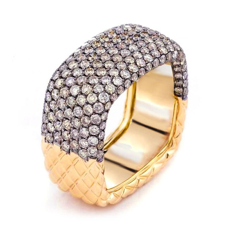 Женское Винтажное кольцо с инкрустацией AAAAA, обручальное кольцо с фианитом, свадебные кольца для невесты, 2019