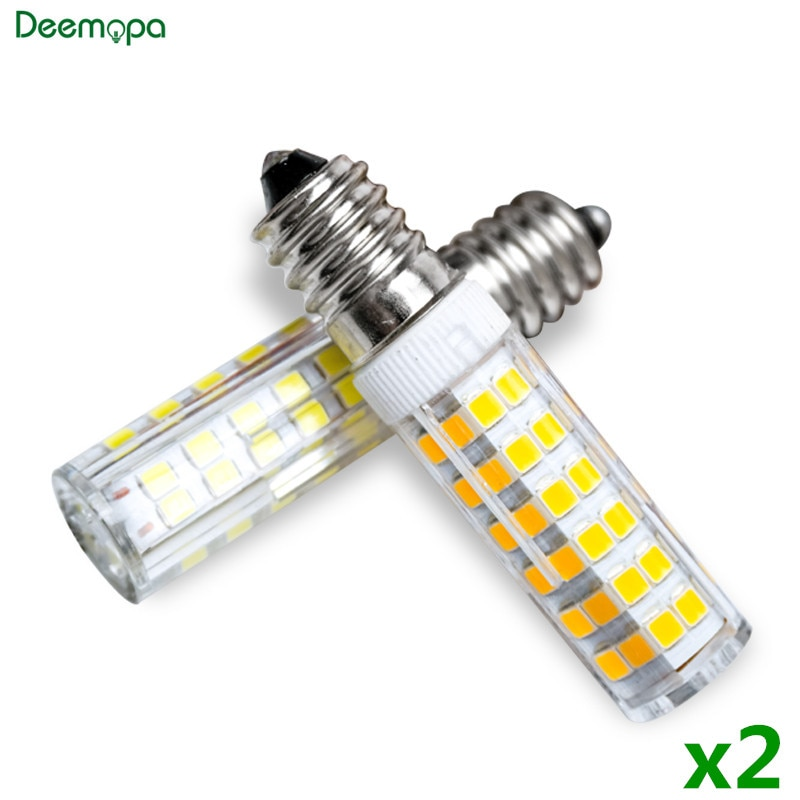 2pcs/lot E14 LED Lamp 3W 5W 7W 220V 240V LED Corn Bulb 33 51 75 SMD2835 360 Beam High Quality Cerami