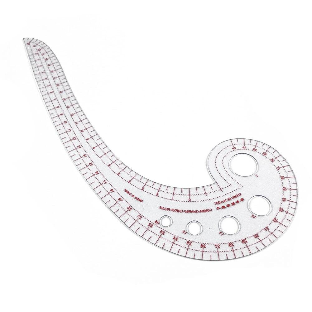 Пластик прозрачный по индивидуальному заказу французской кривой швейная линейка по индивидуальному заказу форма запятой швейные инструменты прозрачный Французский для портных