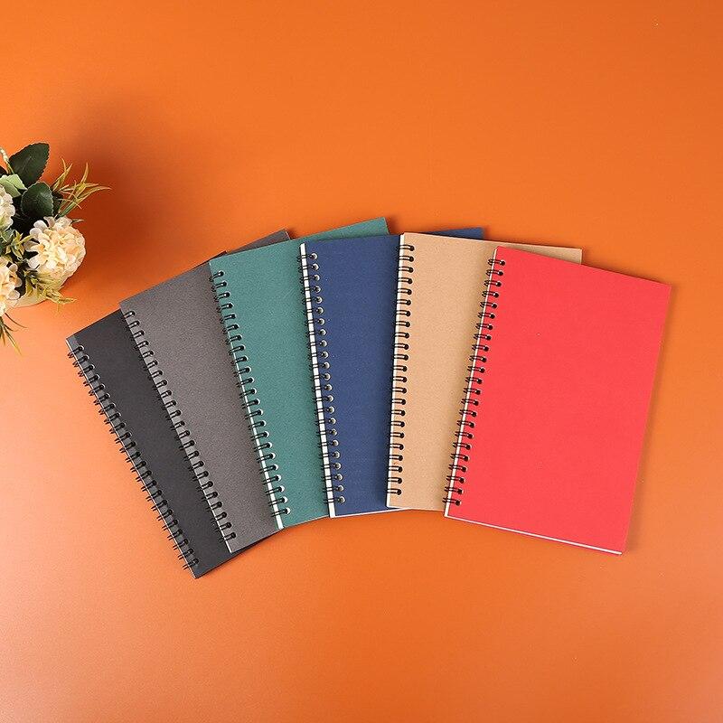 1 шт. Тетрадь Цвет A5 студент книжка на спирали 50 страниц ежедневный план график блокнот для планирования офисные школьные принадлежности