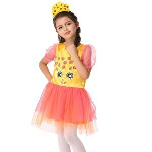 EK209 Halloween children Spider Costume Girls Cosplay Animation Costume Play Spider Clothing SUMMER GIRL DRESS