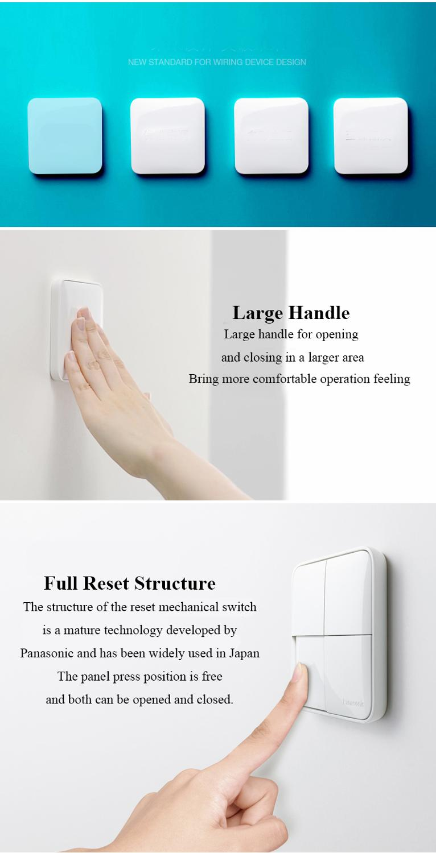 Купить с кэшбэком Panasonic Switch Luxury Touch On/off Standard Switch 1/2/3/4 Gang 1/2 Way Wall Light Home Switches