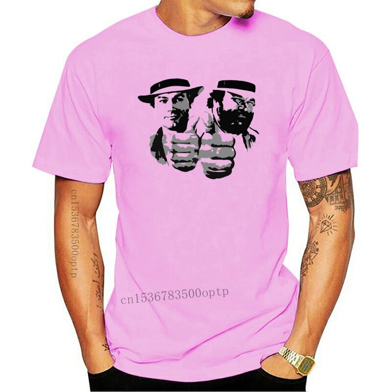 New Bud Spencer & Terence Hill LOGO T-SHIRT FRUIT OF THE LOOM PRINT BY EPSONCool Casual pride t shirt men tshirt free shippi