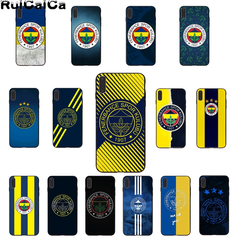 RuiCaiCa funda de teléfono de cáscara de fútbol para iPhone 6S 6plus 7 7plus 8 8Plus X Xs MAX 5 5S XR 11 11pro