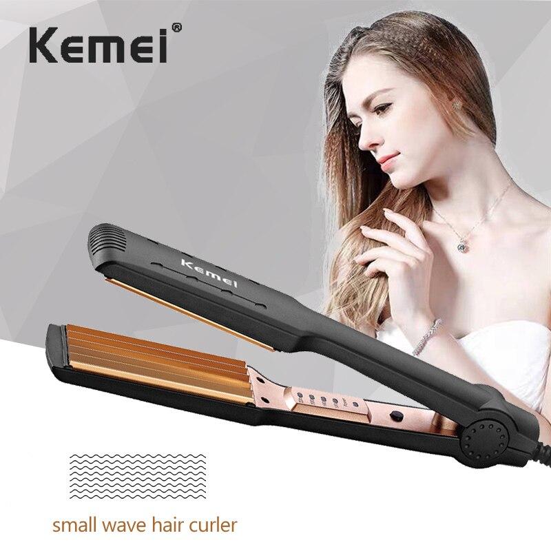 Rizadores de pelo, rizador de cerámica corrugado de maíz profundo volante grande, rizador de pelo de iones negativos de cerámica, rizador de volante grande de calentamiento rápido