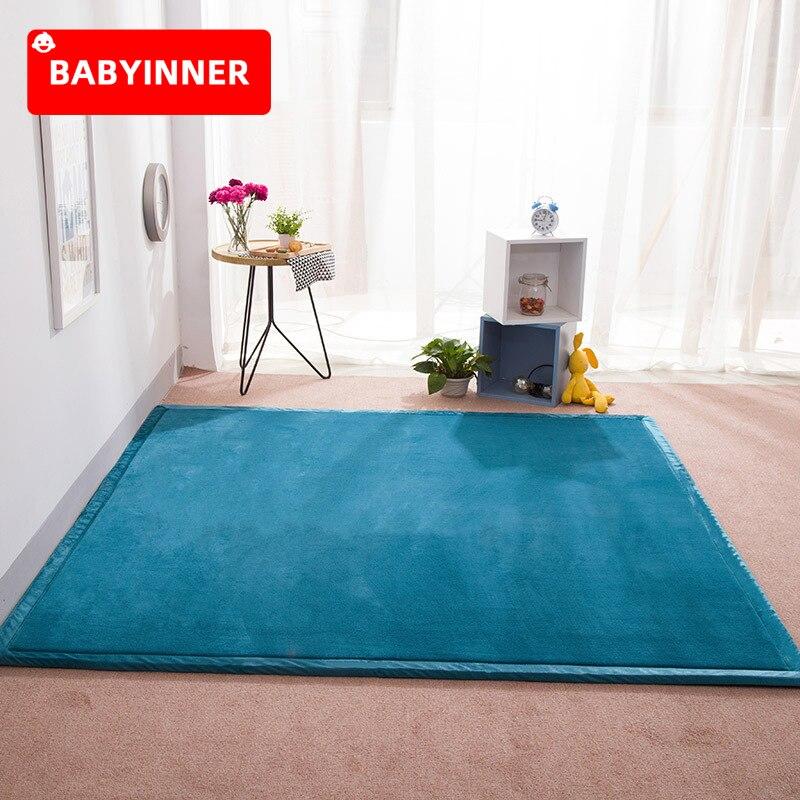 Babyinside الطفل تلعب حصيرة 3 سنتيمتر سماكة المرجان المخملية السجاد لينة مريحة الاطفال السجاد الطفل حصيرة الأطفال البساط اليوغا الحصير غرفة نوم