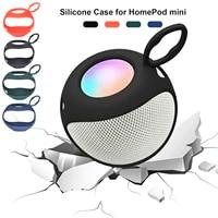 Etui de protection Flexible en Silicone pour mini haut-parleur intelligent HomePod  coque de cadre de boite de son antichoc  accessoires de haut-parleur
