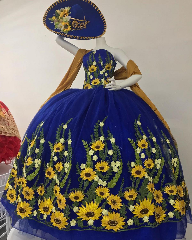 Straps Royal Blue Quinceanera Dress Royal Blue Pageant Sweet 16 Party Gowns vestidos de 15 años quinceañera 2021