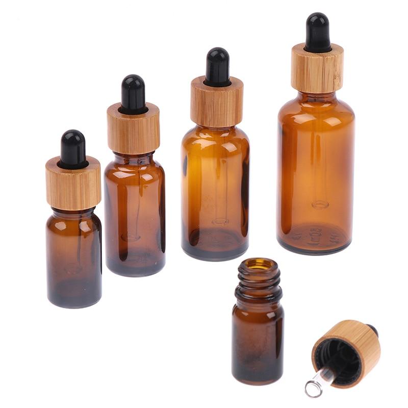 5/10/20/30/50ml Portable Reusable Sample Travel Dropper Sub-bottles For Essential Oil Glass Tube Empty Bottles