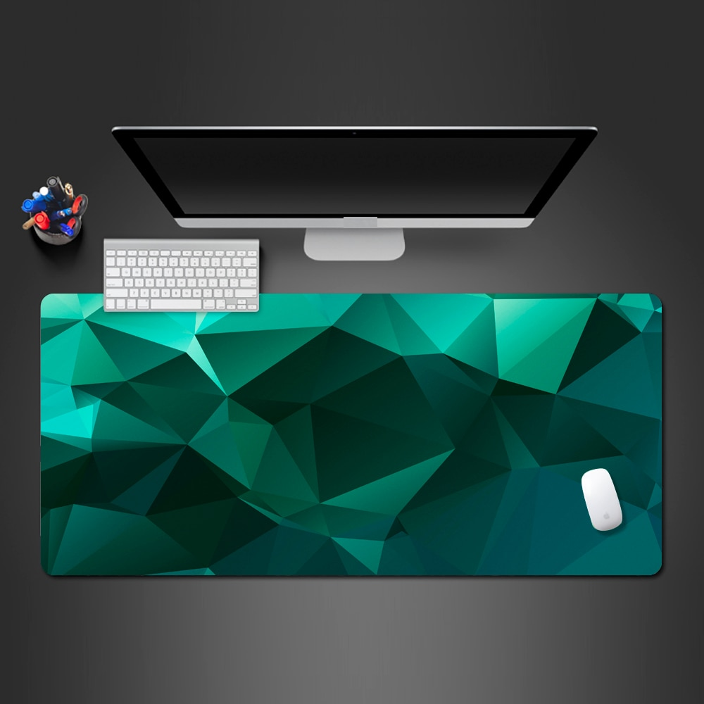 Color creative personality game mouse pad custom eye-catching green desktop keyboard lock box large pad cleanable rubber pad
