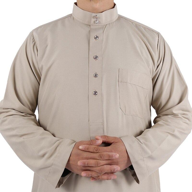 Qami-bata de lana lavada para hombre... Tnica musulmana rabe de estilo chilaba...