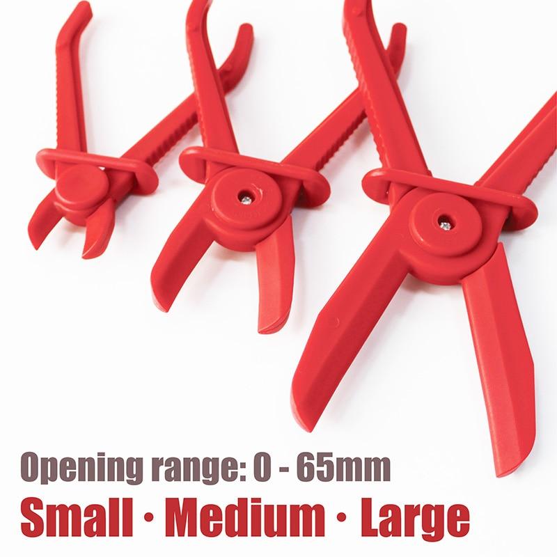 3PCS Large Medium Small Workshop Nylon Hose Pipe Clamp Set Brakes Heaters RADIATORS Cut-off Plier