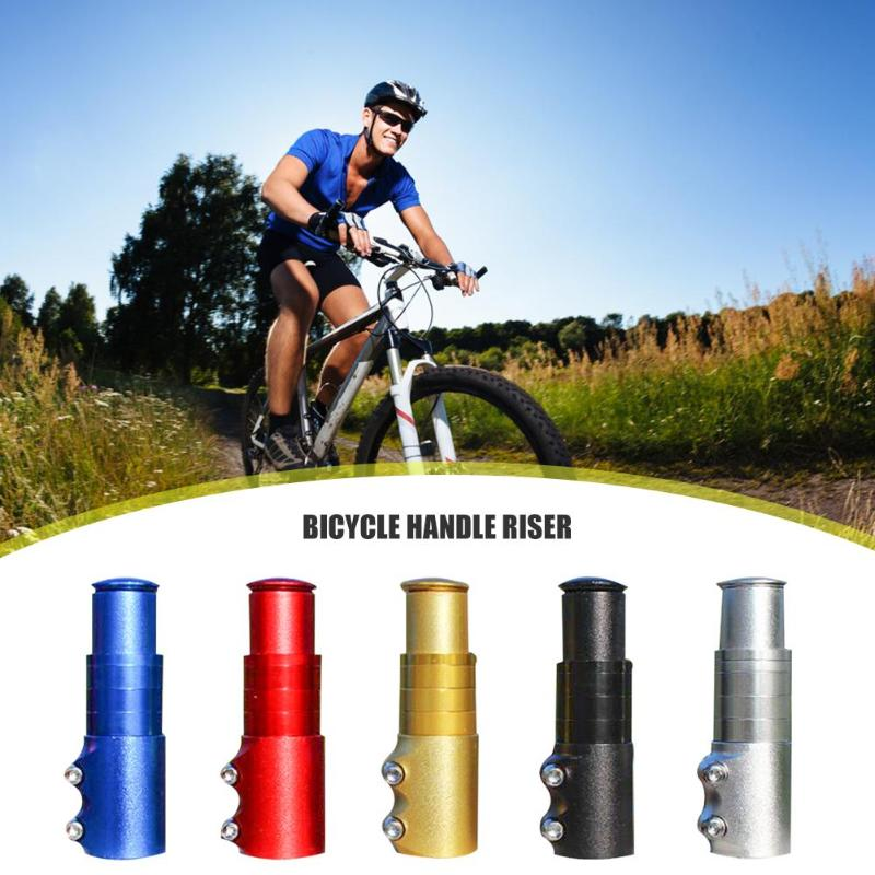 Elevador de vástago de manillar de bicicleta de montaña aleación de aluminio MTB bicicleta plegable horquilla delantera tubo extensor accesorios de ciclismo