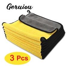 3 шт. Авто детализация коралловый флис впитывающее полотенце для чистки автомобиля полотенце для мытья автомобиля многофункциональное чистящее полотенце сушка для чистки автомобиля