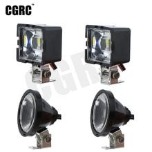 1 paire RC modèle LED phares projecteurs pour 1/10 RC chenille tout-terrain Traxxas TRX4 TRX6 SCX10 90046 RC4WD D90 TF2 RC camion bricolage