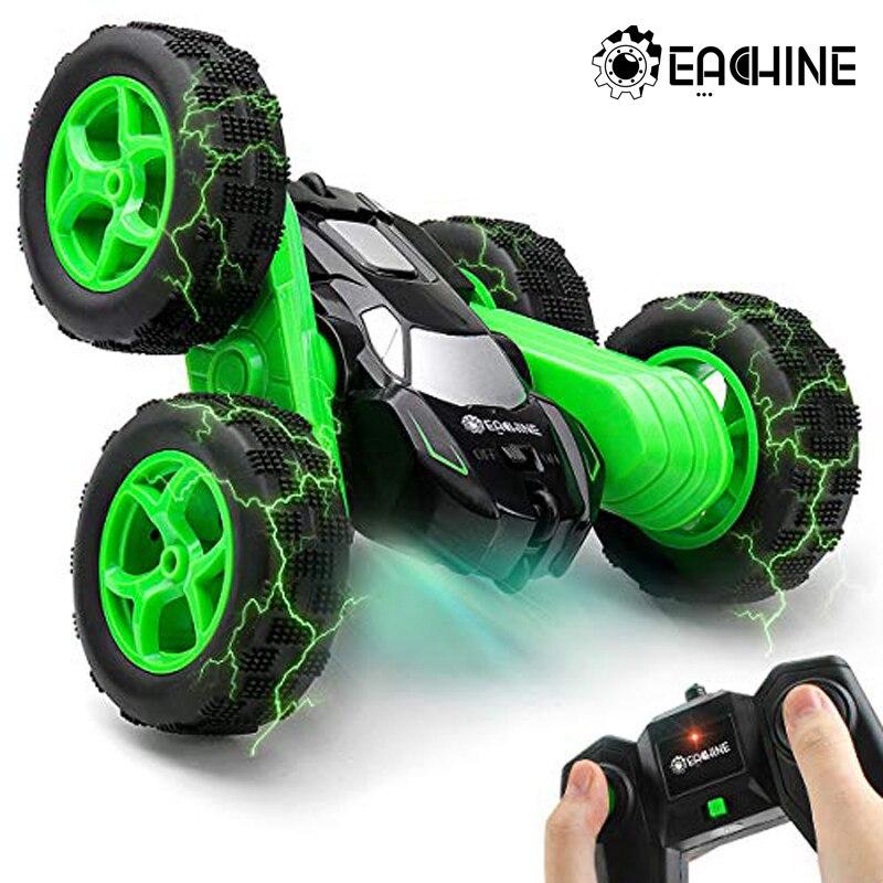 Eachine EC02 RC Car 2.4G 4WD Stunt Drift Deformation Buggy Roll Car 360 Degree Flip Robot Vehicle Mo