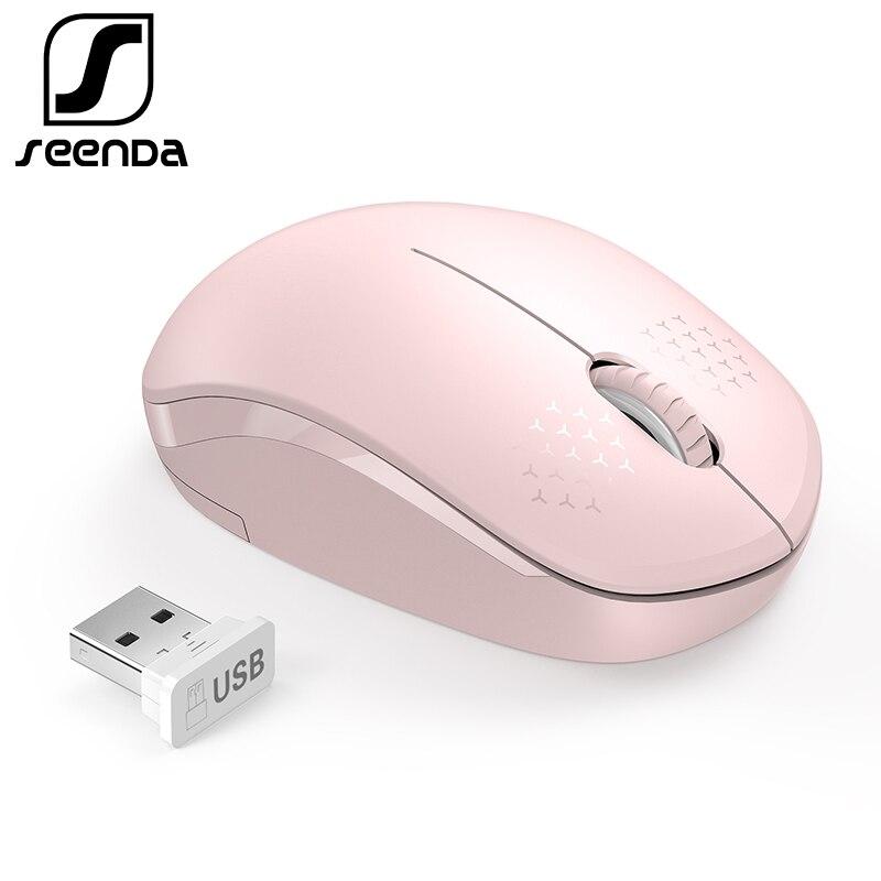 SeenDa-Ratón silencioso inalámbrico 2.4G para ordenador, ergonómico, para portátil, escritorio, Notebook, PC