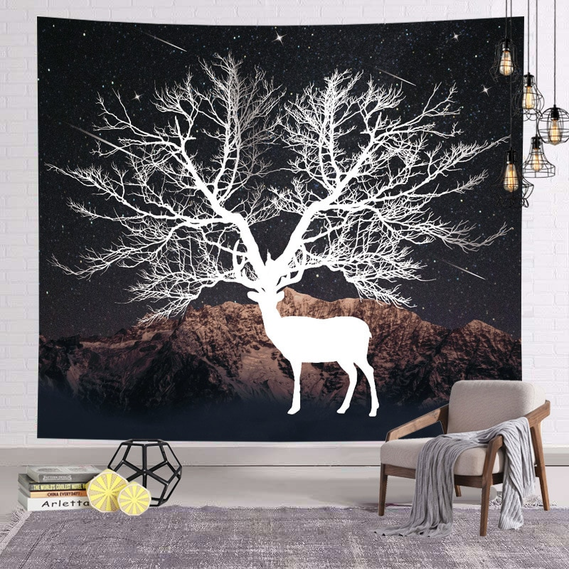 Background Fabric Fashion Hanging Cloth Room Live Studio Rental Room Decorative Wall Cloth Dormitory Bedroom Bedside Tapestry