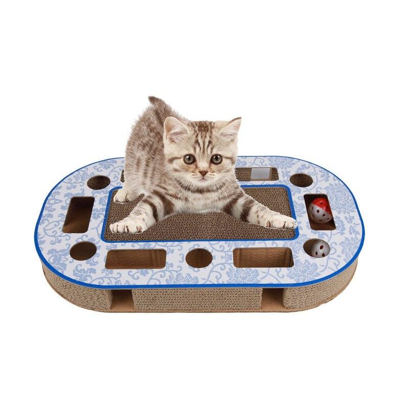 Juguetes para gatos, tabla de rascar para gatos, juguete para mascotas, pelota de gato corrugada resistente al desgaste, tabla para rascar para gatos