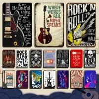 fail music speaks vintage metal posters retro tin signs bar pub club man cave music room wall decor 8 x 12 inches