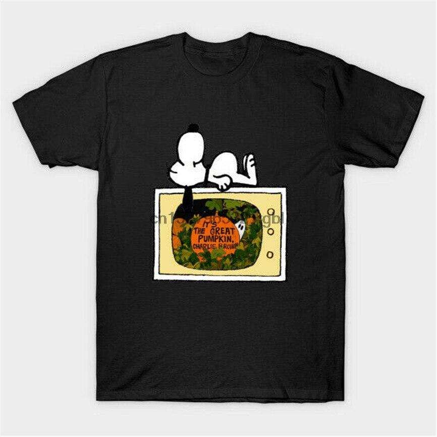 Su la Gran Calabaza Charlie Brown cacahuetes feliz Halloween negro camiseta S-6Xl de talla grande ropa camiseta