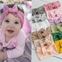 wfblock summer baby hair accessories super soft nylon bow childrens accessories cute princess hair band 2020 hot
