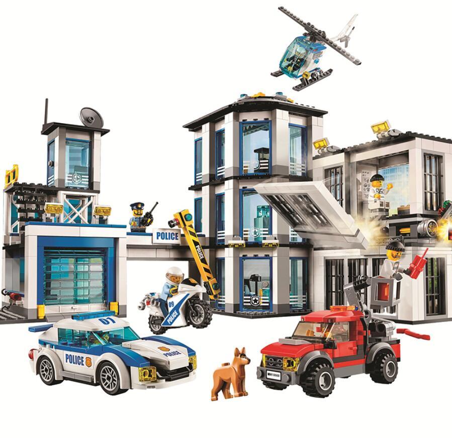 Series de la ciudad Compatible con Lepining estación de policía Set chico chica bloques de construcción ladrillos juguetes para niños regalos de navidad