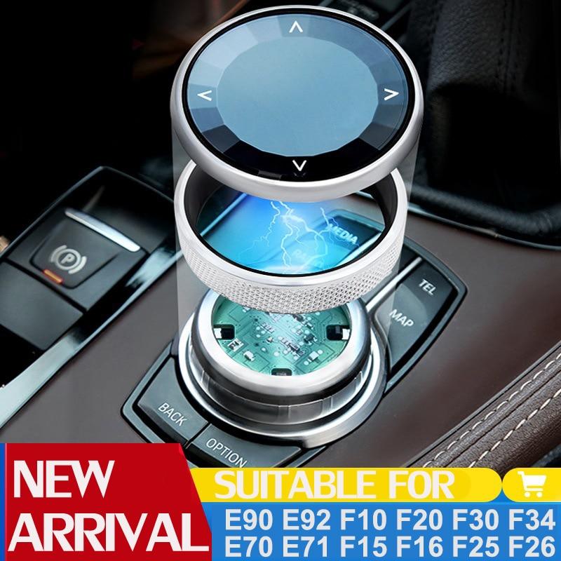 Coche cubierta de botones Multimedia iDrive pegatinas para BMW 1 3 5 7 Serie X1 X3 F25 X5 F15 X6 F16 F30 F10 E90 F11 E84 E70 E71 F01 F20